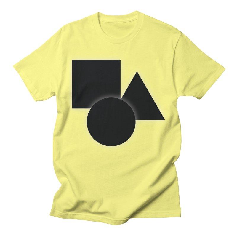 Basic Dark Shapes Men's T-Shirt by TYNICKO Random Randoms Shop