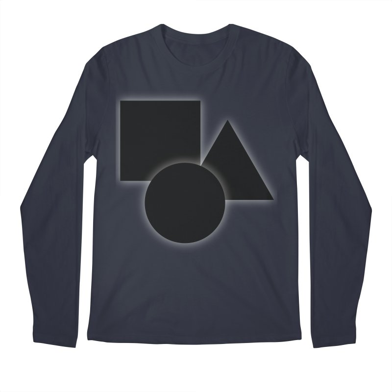 Basic Dark Shapes Men's Longsleeve T-Shirt by TYNICKO Random Randoms Shop