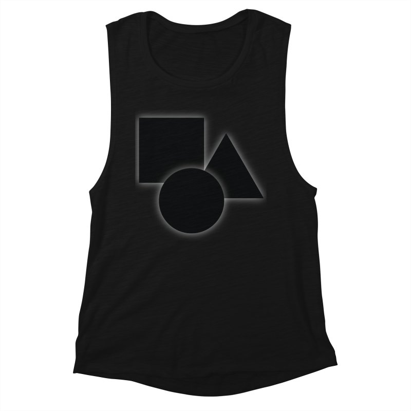 Basic Dark Shapes Women's Tank by TYNICKO Random Randoms Shop