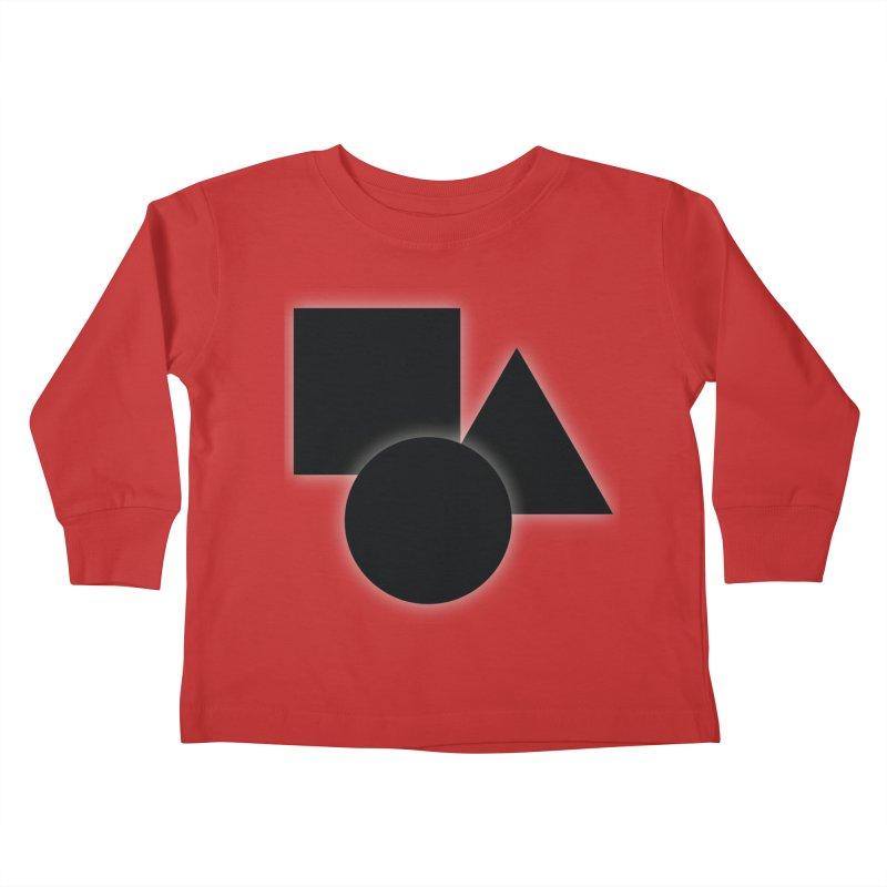 Basic Dark Shapes Kids Toddler Longsleeve T-Shirt by TYNICKO Random Randoms Shop