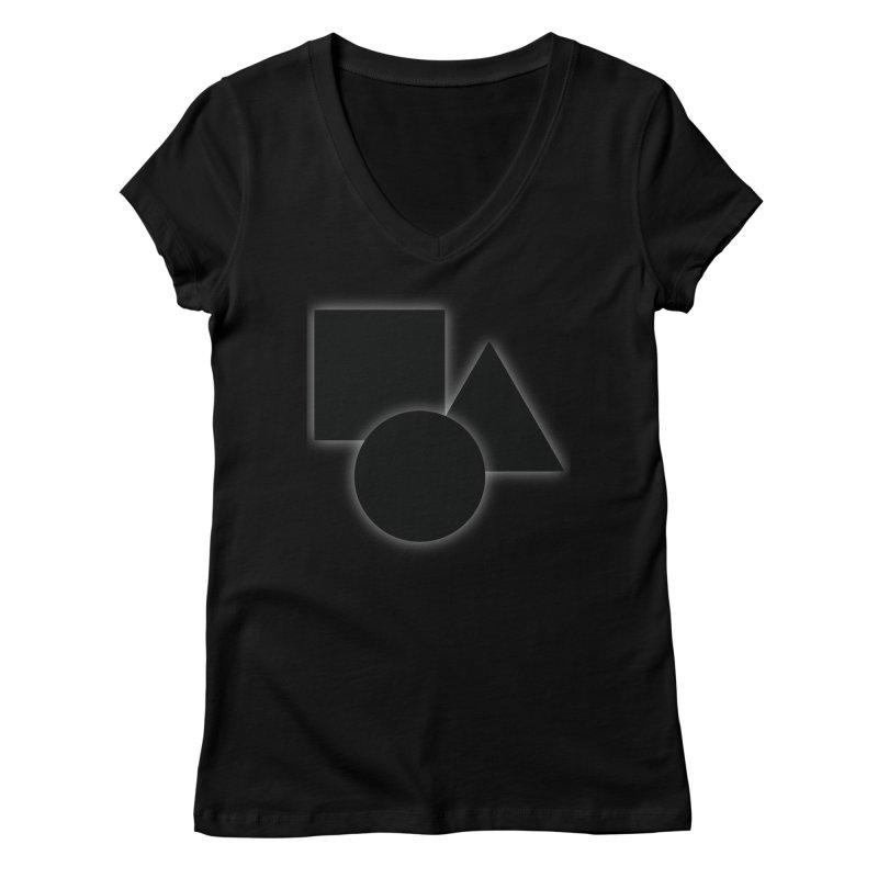 Basic Dark Shapes Women's V-Neck by TYNICKO Random Randoms Shop