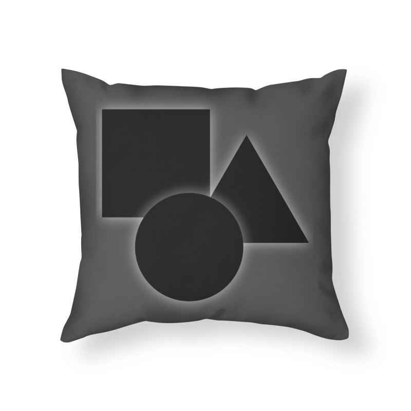 Basic Dark Shapes Home Throw Pillow by TYNICKO Random Randoms Shop