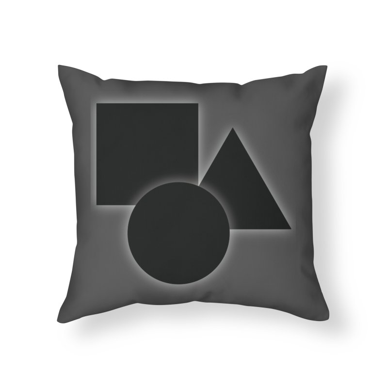 Basic Dark Shapes Home Throw Pillow by TYNICKO Random Randoms Shop