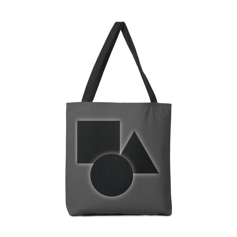 Basic Dark Shapes Accessories Bag by TYNICKO Random Randoms Shop