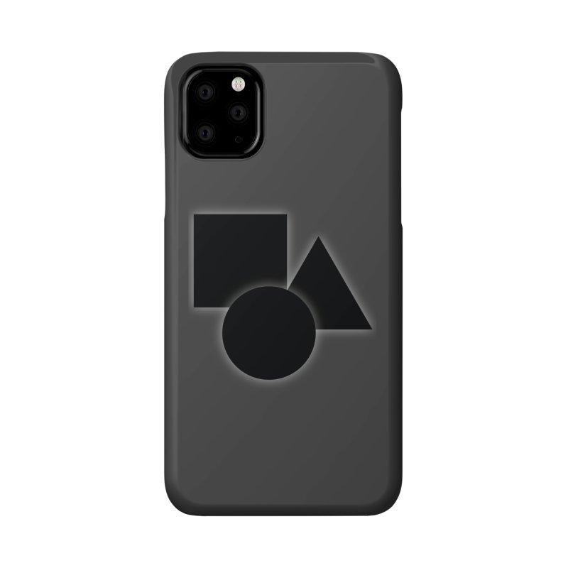 Basic Dark Shapes Accessories Phone Case by TYNICKO Random Randoms Shop