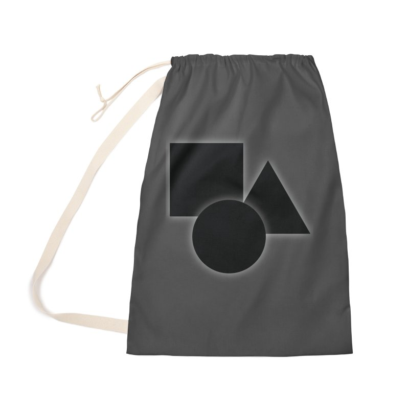 Basic Dark Shapes Accessories Bag by TYNICKO Random Randoms Shop