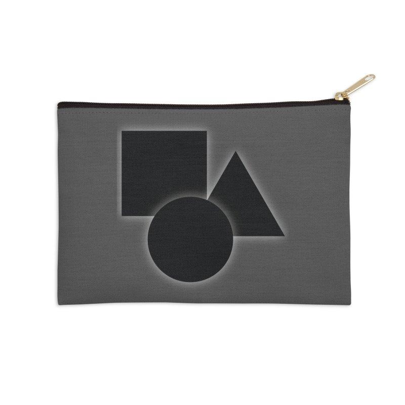 Basic Dark Shapes Accessories Zip Pouch by TYNICKO Random Randoms Shop