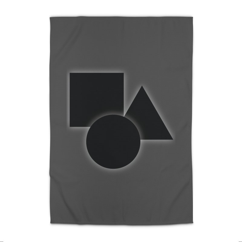 Basic Dark Shapes Home Rug by TYNICKO Random Randoms Shop