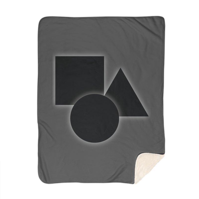 Basic Dark Shapes Home Blanket by TYNICKO Random Randoms Shop