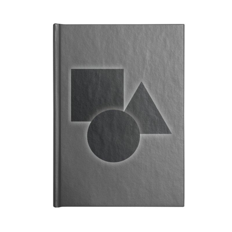 Basic Dark Shapes Accessories Notebook by TYNICKO Random Randoms Shop