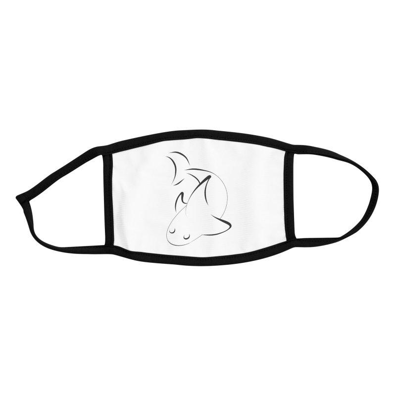 Shark (Black) Accessories Face Mask by TYNICKO Random Randoms Shop