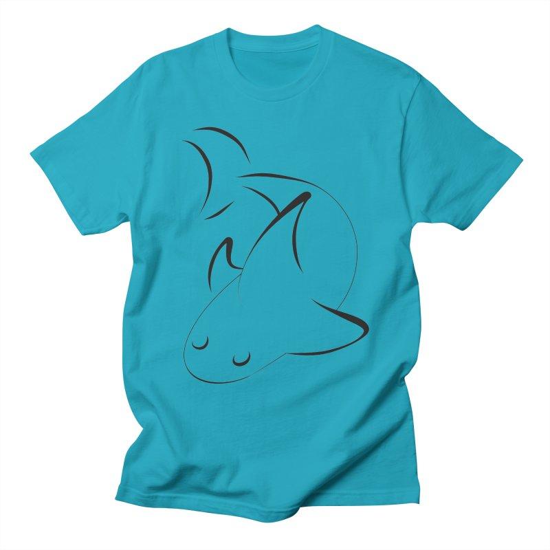 Shark (Black) Men's T-Shirt by TYNICKO Random Randoms Shop