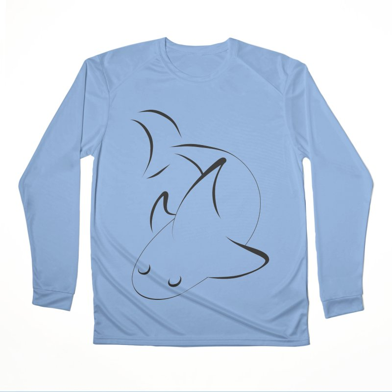 Shark (Black) Men's Longsleeve T-Shirt by TYNICKO Random Randoms Shop