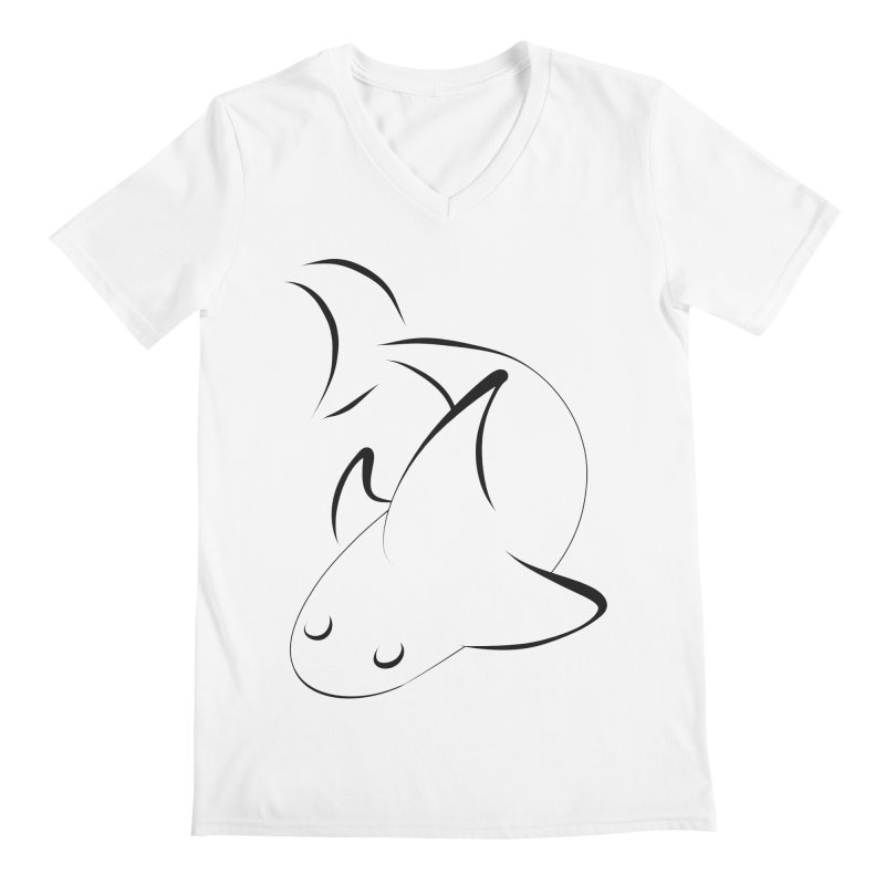 Shark (Black) Men's V-Neck by TYNICKO Random Randoms Shop