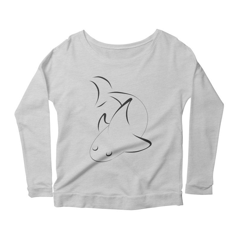 Shark (Black) Women's Longsleeve T-Shirt by TYNICKO Random Randoms Shop