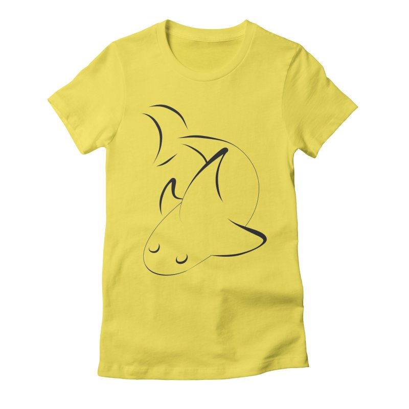 Shark (Black) Women's T-Shirt by TYNICKO Random Randoms Shop
