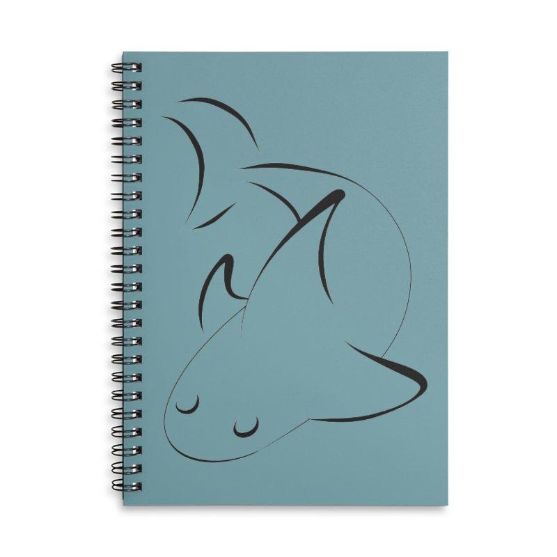 Shark (Black) Accessories Notebook by TYNICKO Random Randoms Shop