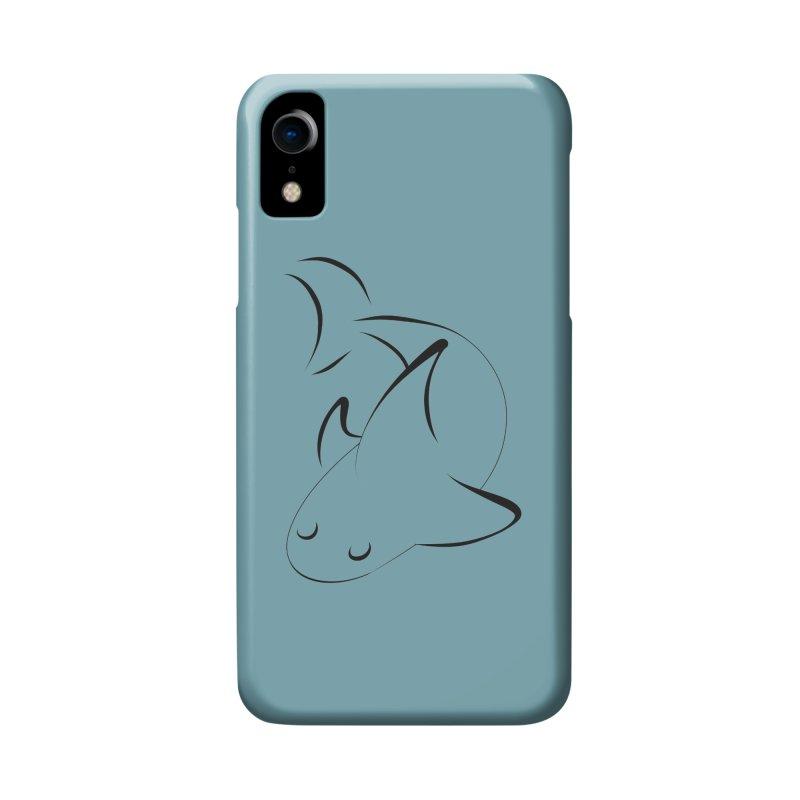 Shark (Black) Accessories Phone Case by TYNICKO Random Randoms Shop