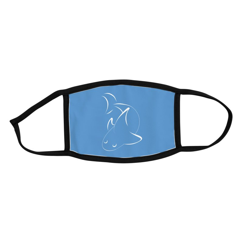 Shark (White) Accessories Face Mask by TYNICKO Random Randoms Shop