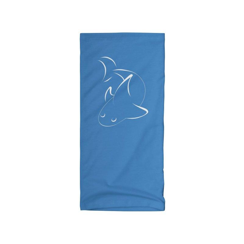 Shark (White) Accessories Neck Gaiter by TYNICKO Random Randoms Shop
