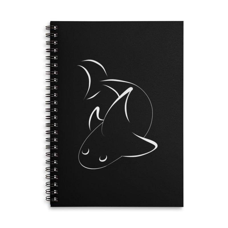Shark (White) Accessories Notebook by TYNICKO Random Randoms Shop