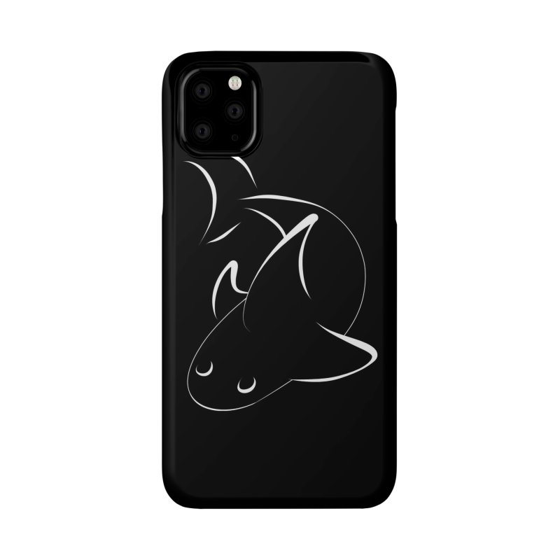 Shark (White) Accessories Phone Case by TYNICKO Random Randoms Shop