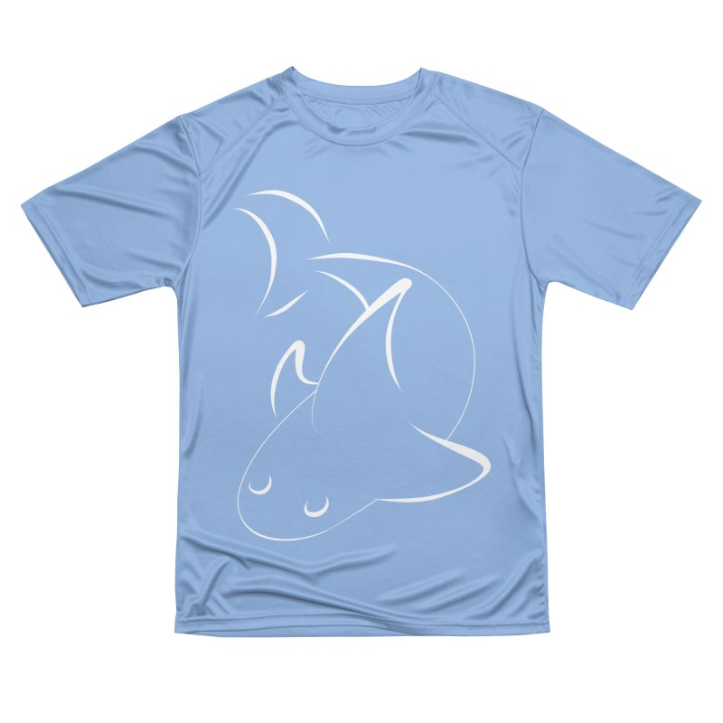 Shark (White) Men's T-Shirt by TYNICKO Random Randoms Shop