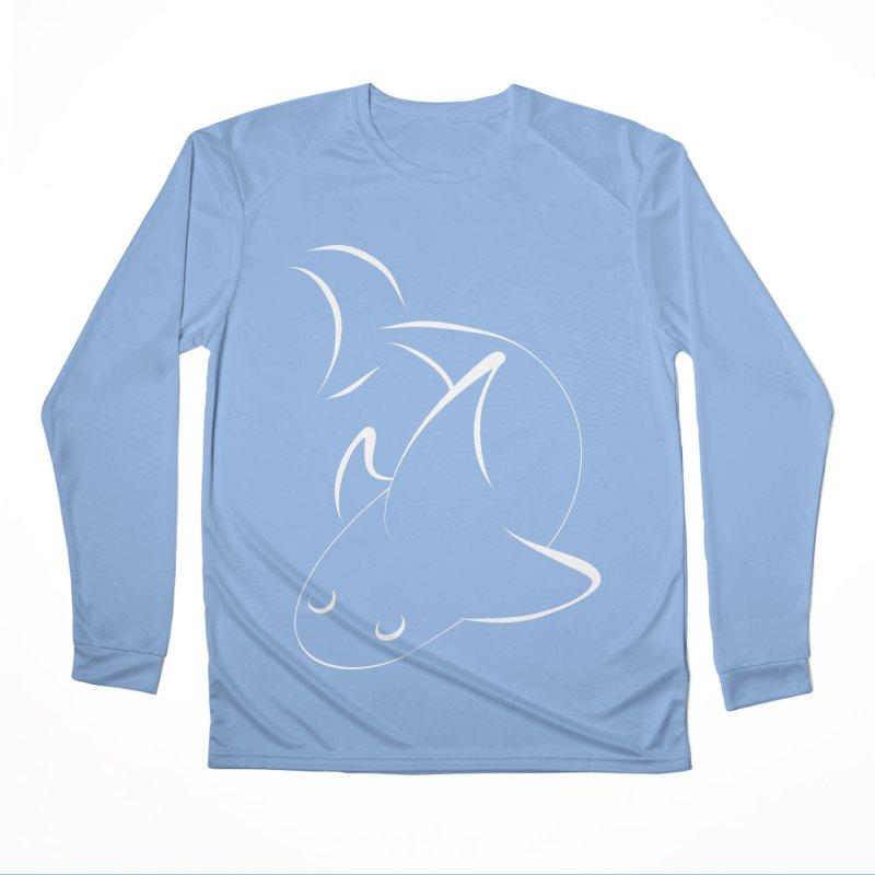 Shark (White) Women's Longsleeve T-Shirt by TYNICKO Random Randoms Shop