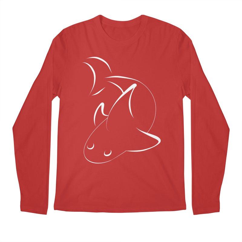 Shark (White) Men's Longsleeve T-Shirt by TYNICKO Random Randoms Shop