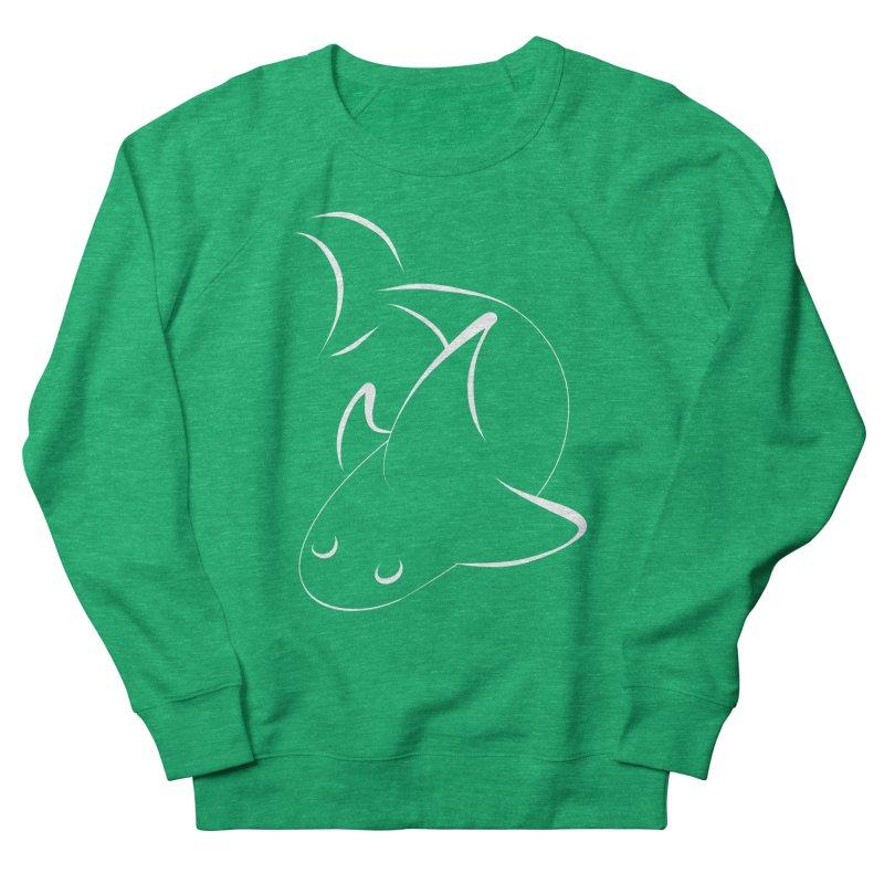 Shark (White) Women's Sweatshirt by TYNICKO Random Randoms Shop