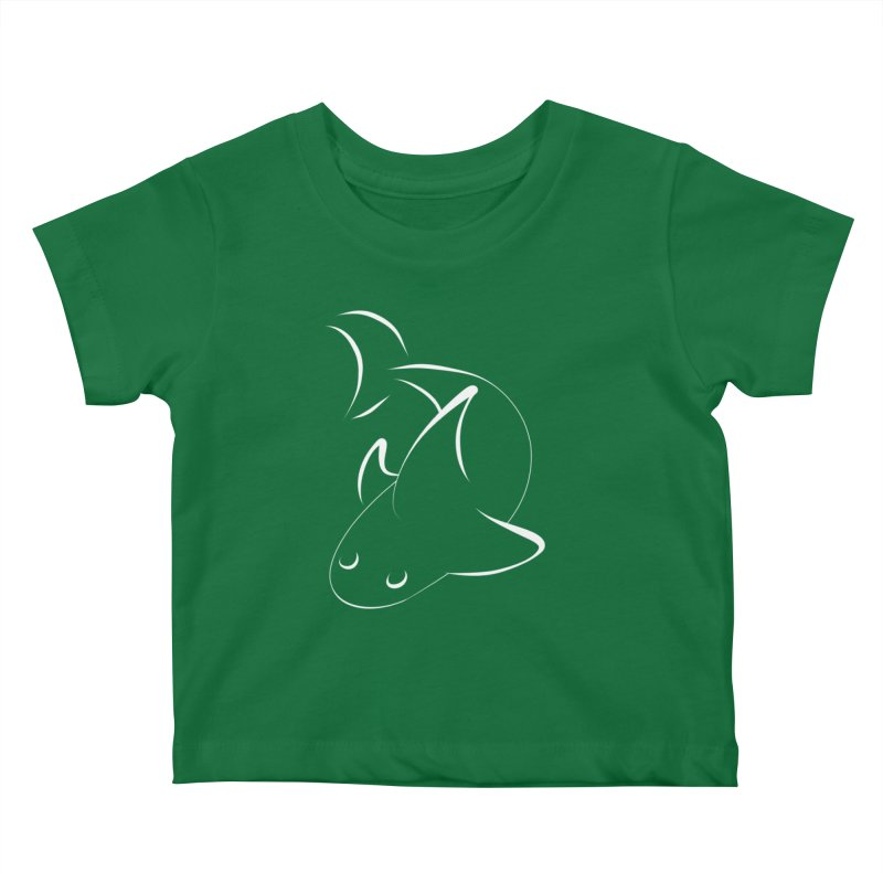 Shark (White) Kids Baby T-Shirt by TYNICKO Random Randoms Shop
