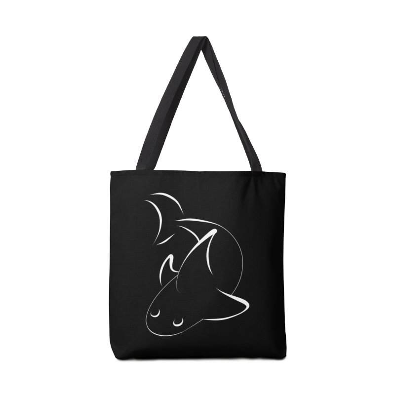 Shark (White) Accessories Bag by TYNICKO Random Randoms Shop