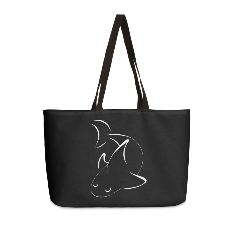 Shark (White) Accessories Bag by TYNICKO Random Randoms Shop