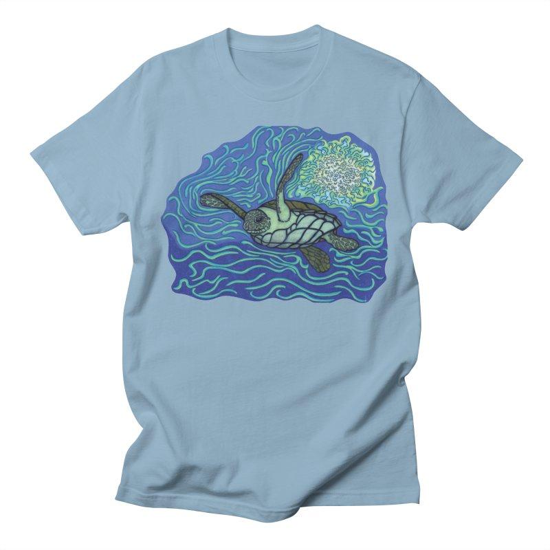 Sea Turtle in Ocean Sun Men's T-Shirt by TYNICKO Random Randoms Shop