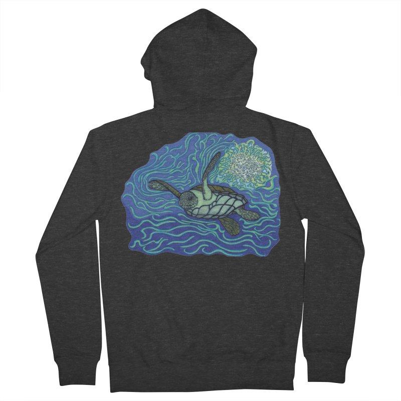 Sea Turtle in Ocean Sun Men's Zip-Up Hoody by TYNICKO Random Randoms Shop