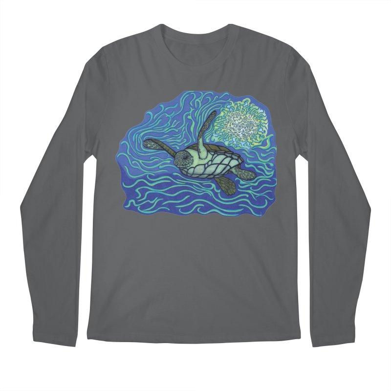 Sea Turtle in Ocean Sun Men's Longsleeve T-Shirt by TYNICKO Random Randoms Shop