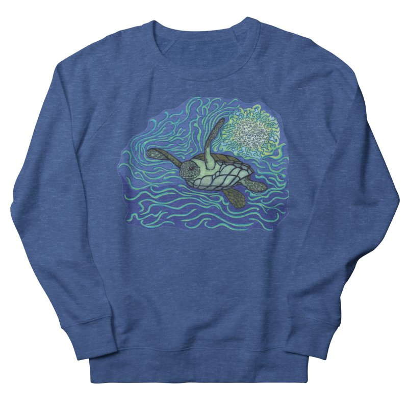 Sea Turtle in Ocean Sun Men's Sweatshirt by TYNICKO Random Randoms Shop