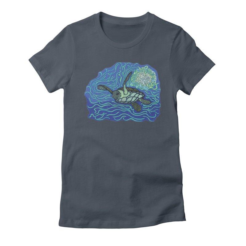 Sea Turtle in Ocean Sun Women's T-Shirt by TYNICKO Random Randoms Shop