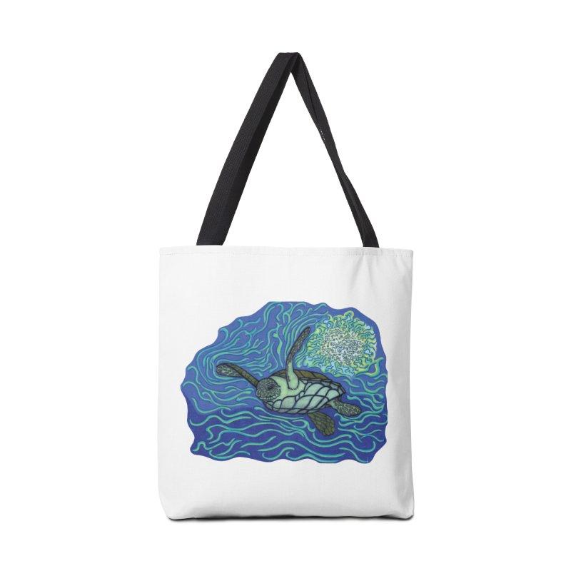 Sea Turtle in Ocean Sun Accessories Bag by TYNICKO Random Randoms Shop
