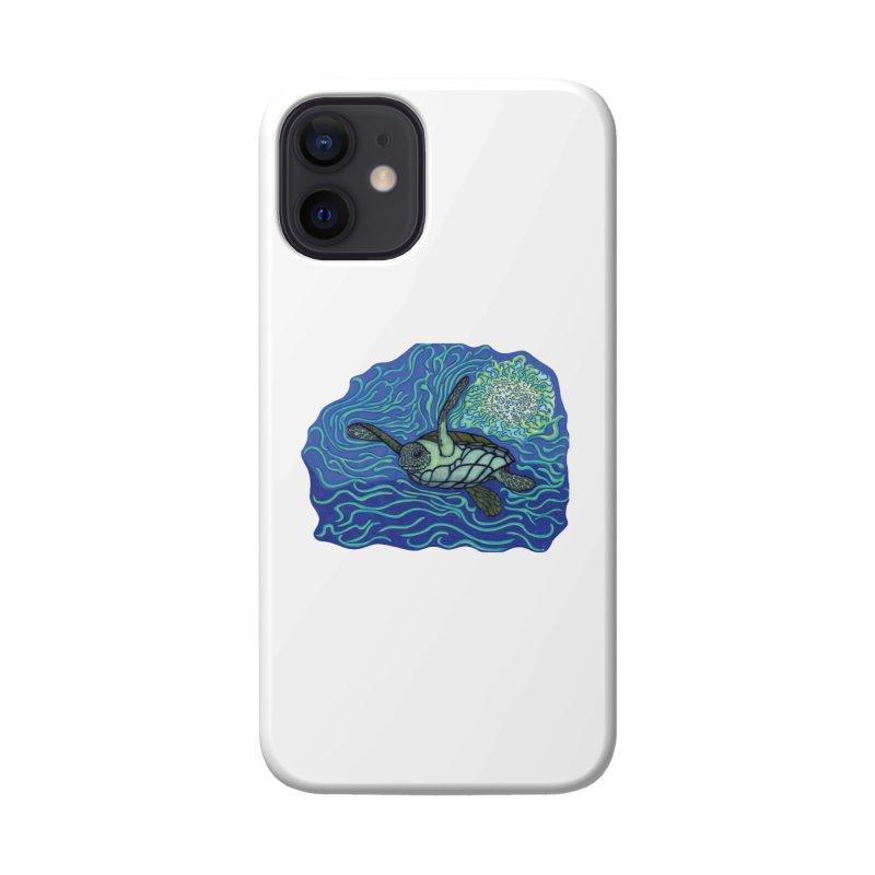 Sea Turtle in Ocean Sun Accessories Phone Case by TYNICKO Random Randoms Shop