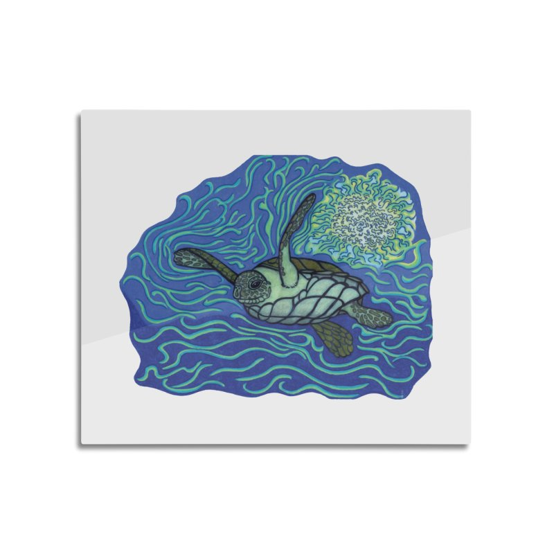 Sea Turtle in Ocean Sun Home Mounted Acrylic Print by TYNICKO Random Randoms Shop