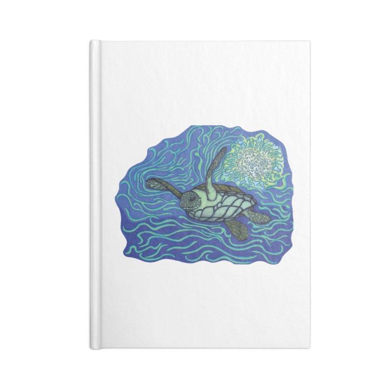 Sea Turtle in Ocean Sun Accessories Notebook by TYNICKO Random Randoms Shop