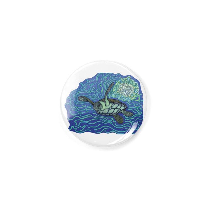 Sea Turtle in Ocean Sun Accessories Button by TYNICKO Random Randoms Shop