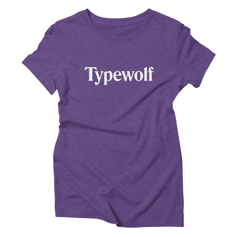 Typewolf Shirt in Women's Triblend T-Shirt Tri-Purple by Typewolf Apparel
