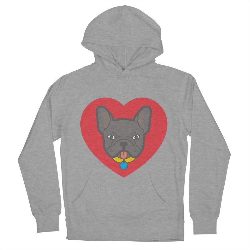 Love Your Frenchie Women's Pullover Hoody by typonegative's Artist Shop