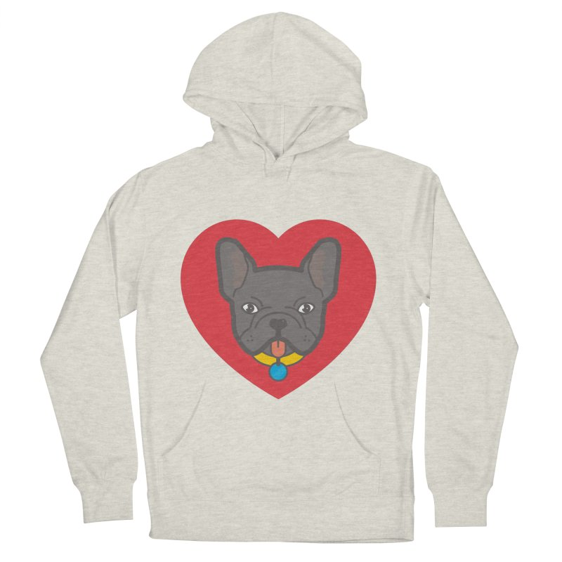 Love Your Frenchie Men's Pullover Hoody by typonegative's Artist Shop
