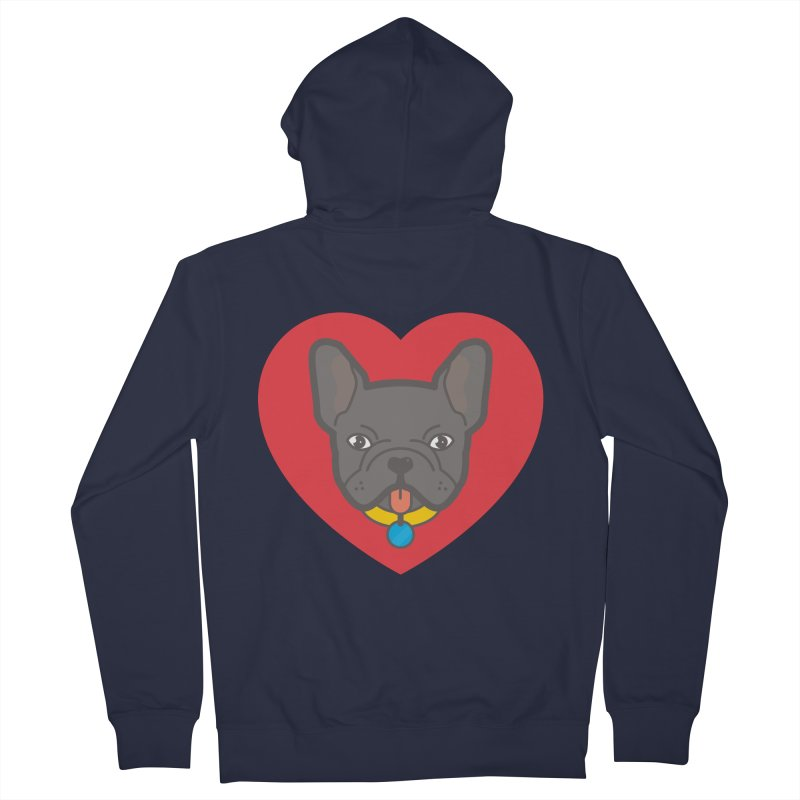 Love Your Frenchie Women's Zip-Up Hoody by typonegative's Artist Shop
