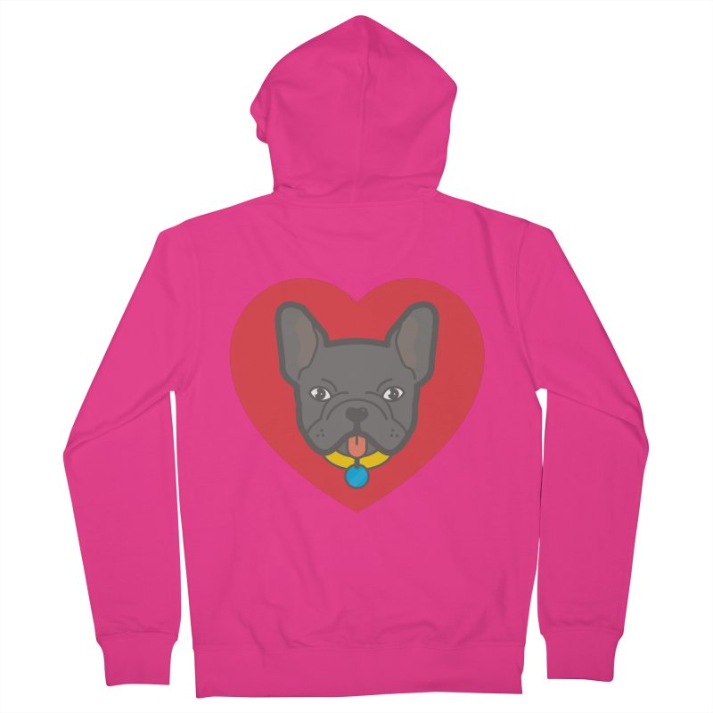 Love Your Frenchie Men's Zip-Up Hoody by typonegative's Artist Shop