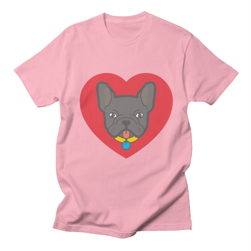 Love Your Frenchie Men's T-shirt by typonegative's Artist Shop