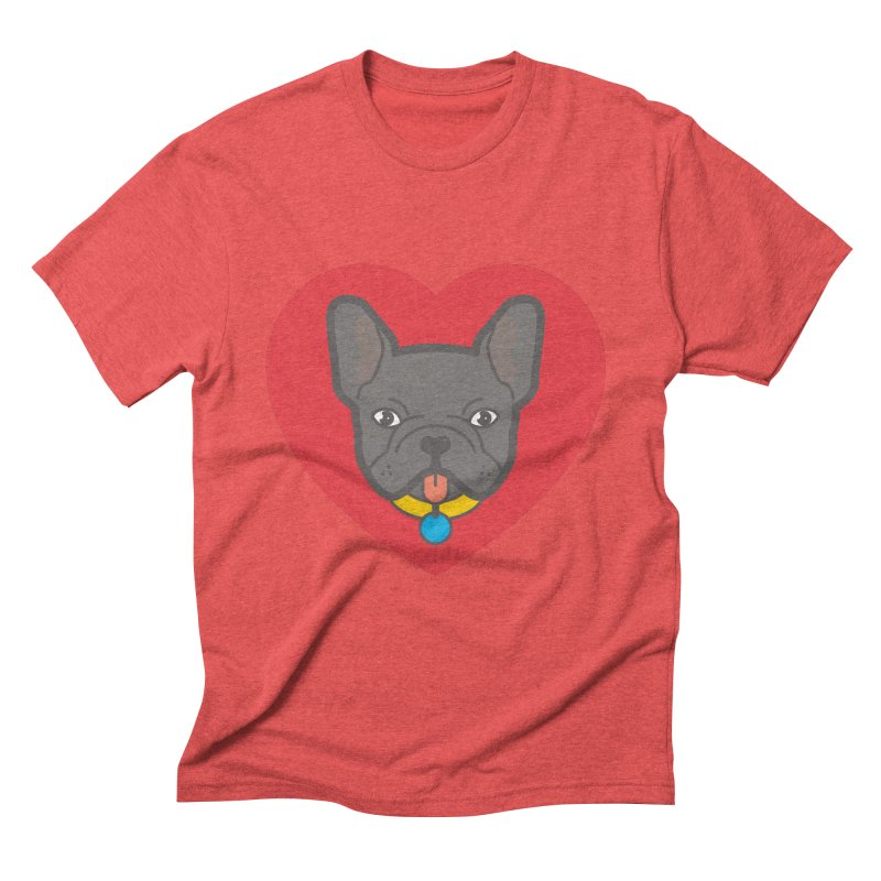 Love Your Frenchie Men's Triblend T-shirt by typonegative's Artist Shop
